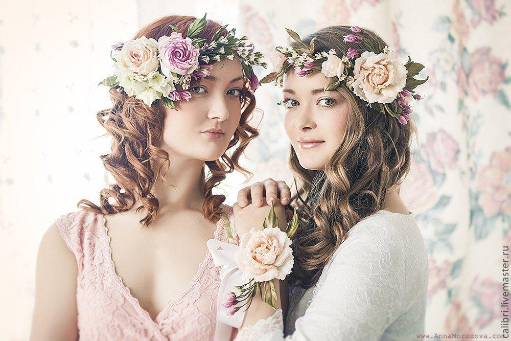 Свадебные веночки на голову своими руками